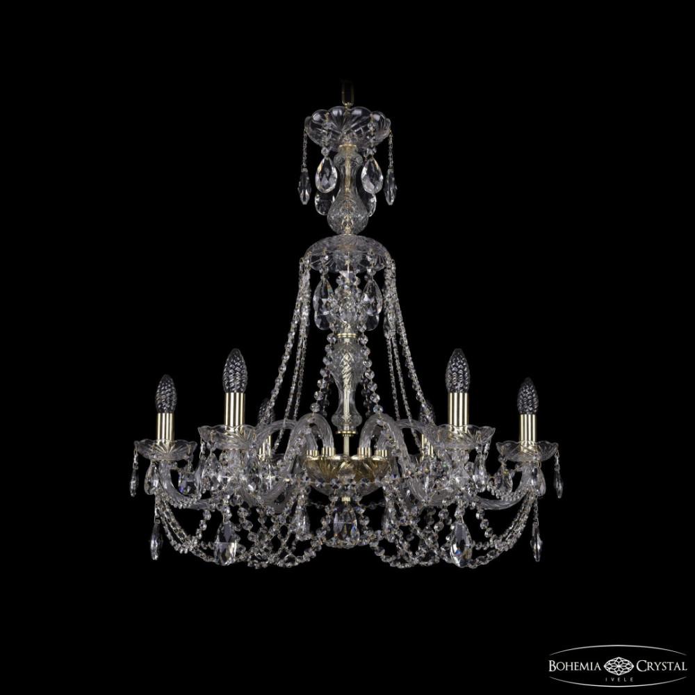 Люстра хрустальная 1406/6/240/XL-74 G Bohemia Ivele Crystal